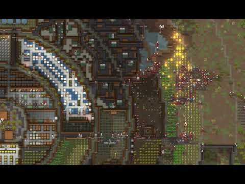 RimWorld - Carrie spiral base hit by raid on weapons storage |