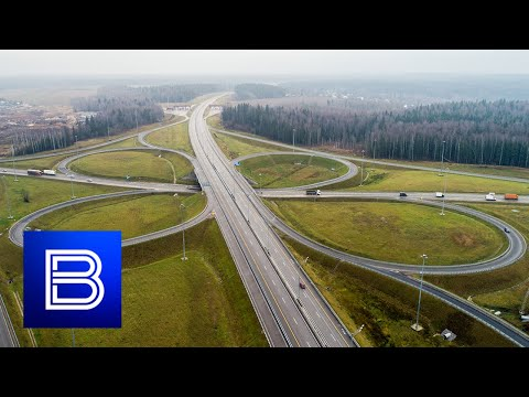 Neva Freeway Finally Complete! New Super Highway Connects St. Petersburg And Moscow!