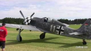 Focke Wulf FW190 Closeups & GREAT SOUND !!! (Airshow Germany 2010)