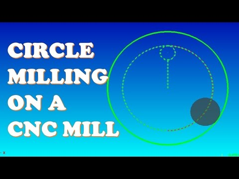 HAND WRITE A CIRCLE MILLING PROGRAM FOR A CNC MILL