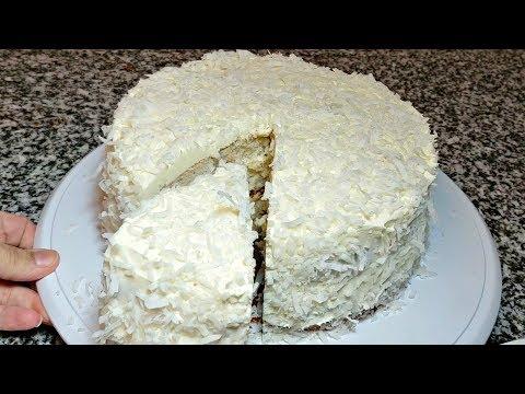 EASY COCONUT CAKE RECIPE | How To Make Coconut Cake