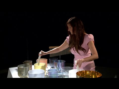 Lorelei plays an Alchemy Crystal Singing Bowl concert at Channel 4