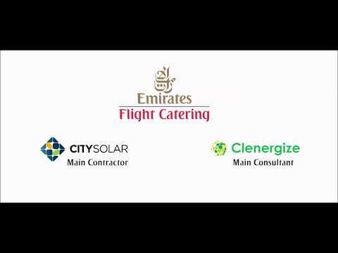 Emirates Flight Catering Solar Project - Dubai