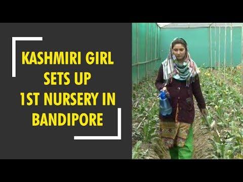 Kashmiri girl sets up 1st nursery in Bandipore, J&K