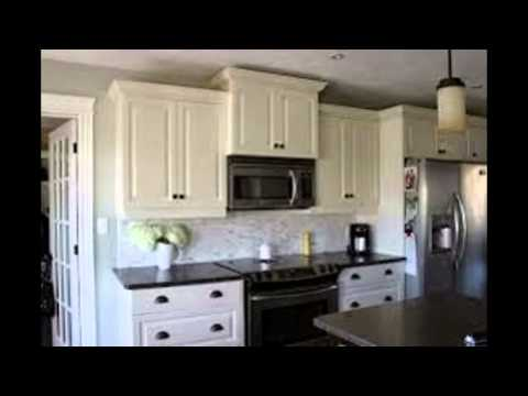 white kitchen cabinets with black countertops - youtube