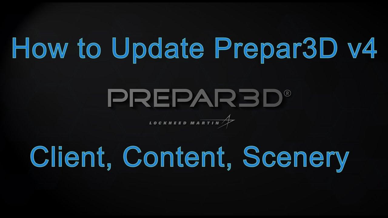 Updating Prepar3D v4 using the Update Component Installers