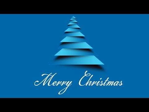 How To Create Merry Christmas Tree Greeting Card In Photoshop