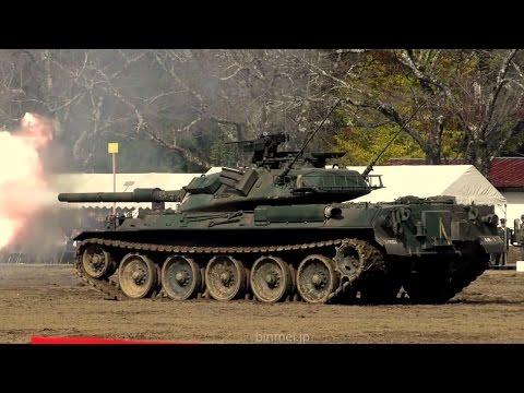 玖珠駐屯地開設59周年記念行事 訓練展示 JGSDF AAV7, Type 74, Type 10 MBT Exercises Exhibition 2016
