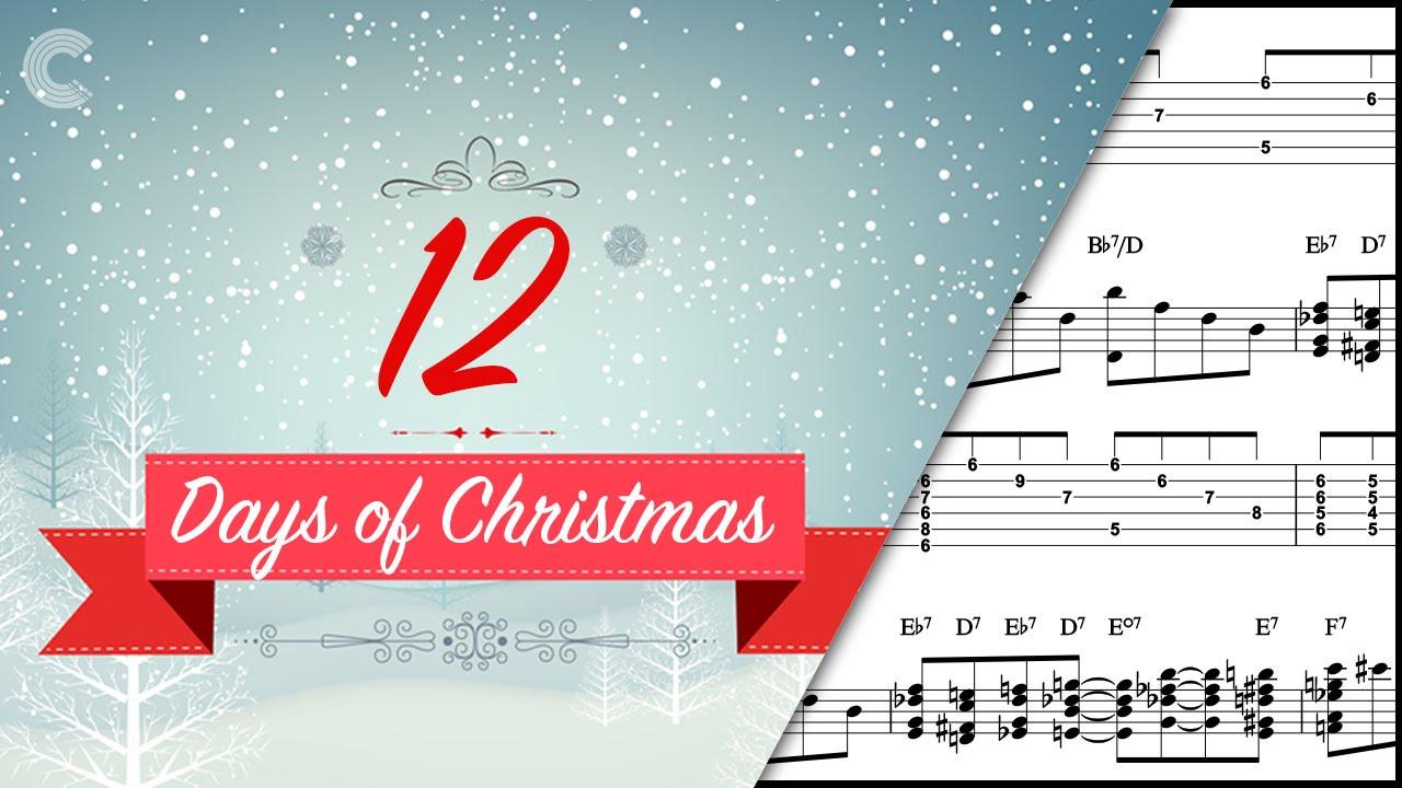 Guitar The 12 Days Of Christmas Christmas Carol Sheet Music