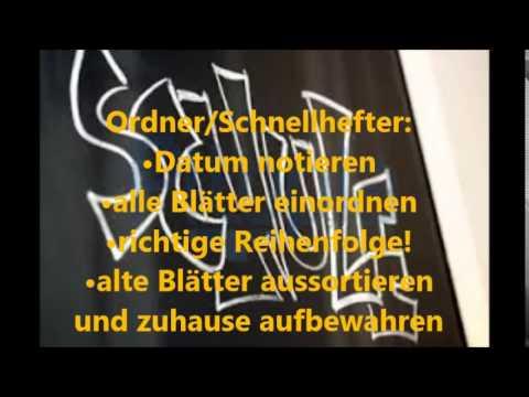 Back to School Teil1 Organisation (Deutsch)