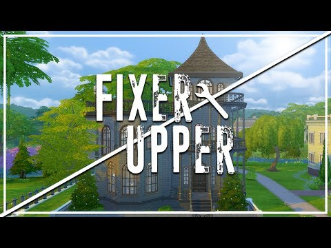 OPHELIA VILLA (GOTH HOUSE) The Sims 4: Fixer Upper - Home Renovation