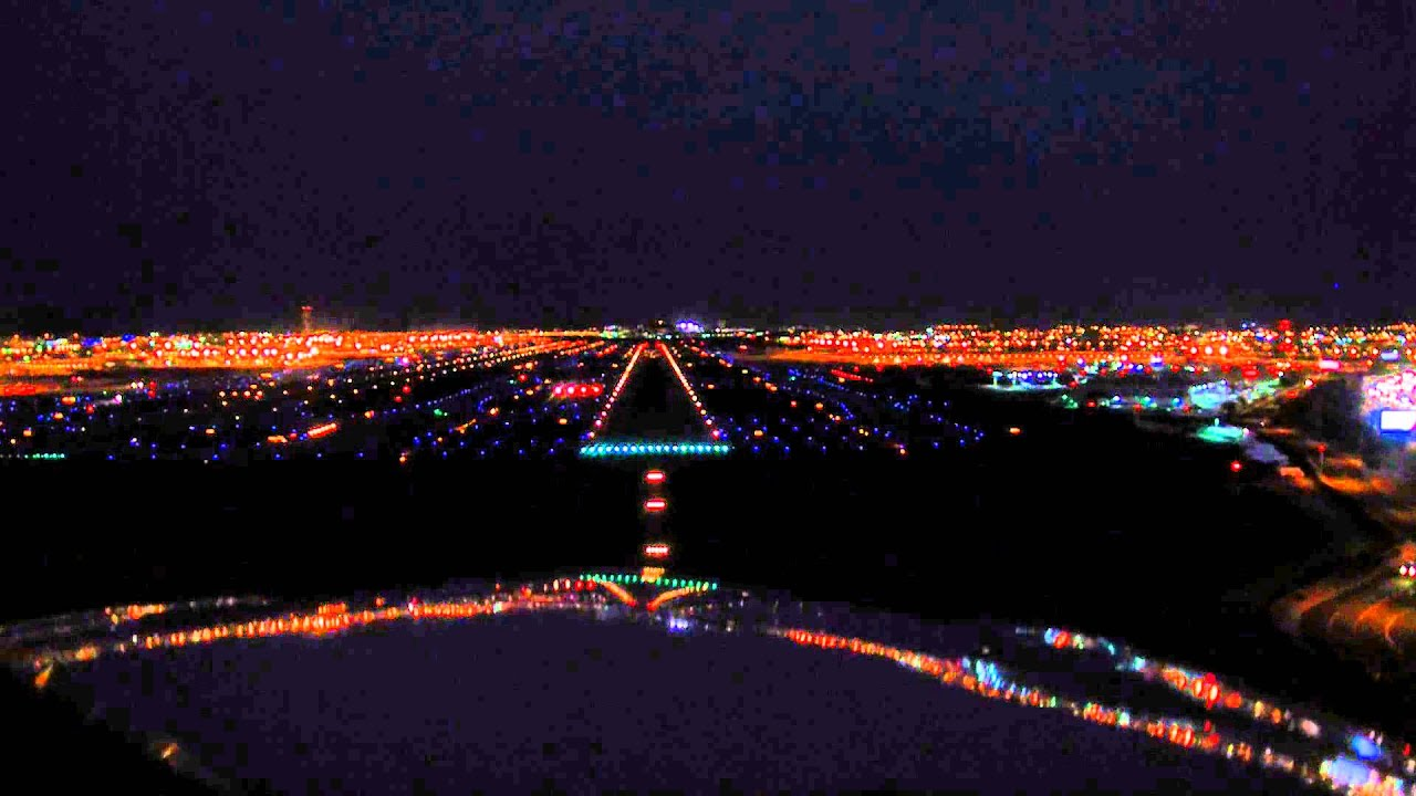 Las Vegas 94 >> Night landing at KPHX in a Piper Archer III cockpit video - YouTube