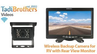 wireless backup camera for rv and 5 9 inch monitors from www tadibrothers com