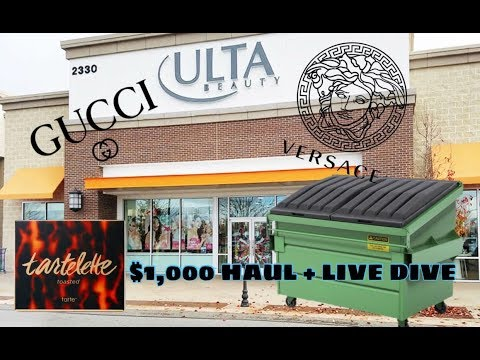 GUCCI AND VERSACE FOUND ULTA DUMPSTER DIVING! CRAZY $1,000 PERFUME HAUL + LIVE DIVE!