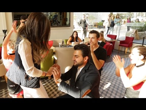 Flash mob marry you Bruno mars proposal  Hassan & Hala – Lina's (Backyard Hazmieh)