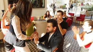 Flash mob marry you Bruno mars proposal - Hassan & Hala – Lina's (Backyard Hazmieh)