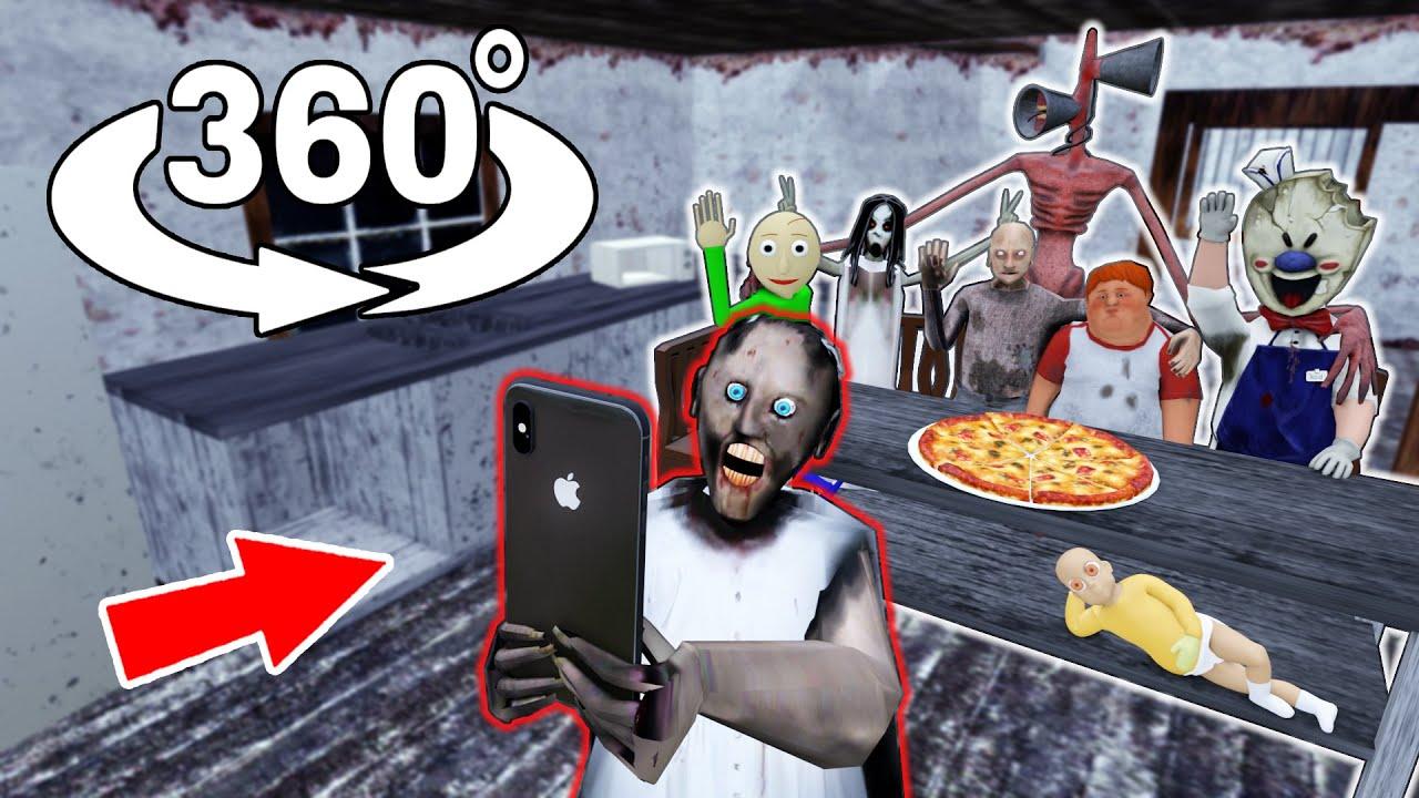 360 Video    Granny House 360    Granny, Siren Head, Baldi, Ice Scream - Funny Horror Animation VR