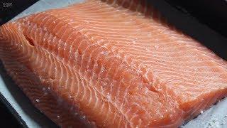 [Cooking ASMR] 숙성연어(곤부즈메) 만들기/ripen salmon/서담/SEODAM