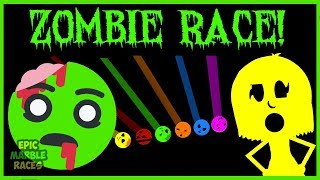 The Zombie's are coming! Today's marble race we have zombies! Our m...