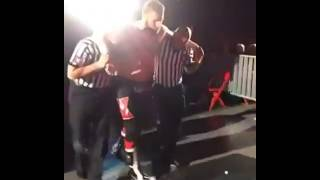 Sami Zayn after His match with Braun Strowman ●WWE RapidCity  Clip