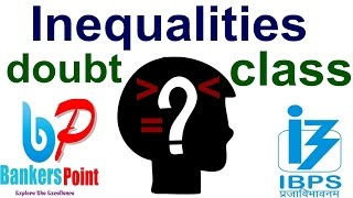 doubt class inequalities in reasoning tricks for ibps po  sbi   rrb   clerk