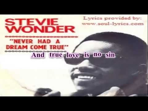 Stevie Wonder - Never Had a Dream Come True (with lyrics) mp3