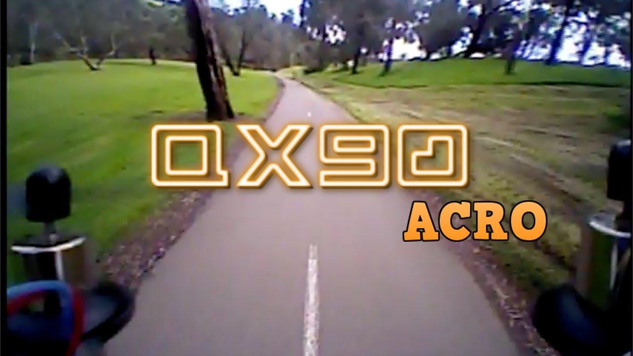 QX90 quadcopter drone – Full acro FPV flight foo…