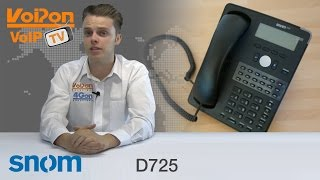 snom D725 IP Phone Video Review / Unboxing