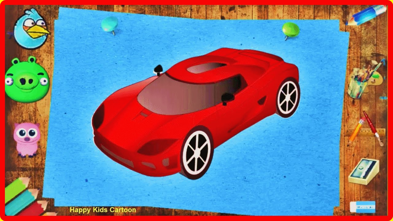 Racing Car Cartoon For Kids Coloring Pages Toys For Kids Sport