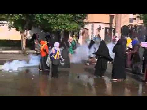 Egyptian police fire tear gas at protesting women