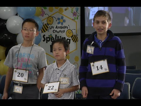 2016 Los Angeles County Spelling Bee