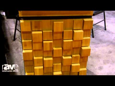 InfoComm 2015: Auralex Acoustics Shows Off the Sustain Series Bamboo Sound Diffusors