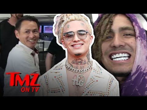 Lil Pump Boarding Flight With Mouth Full Of Ice | TMZ TV