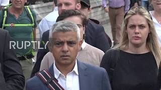 UK: London Mayor Khan heckled by Brexit supporters outside parliament
