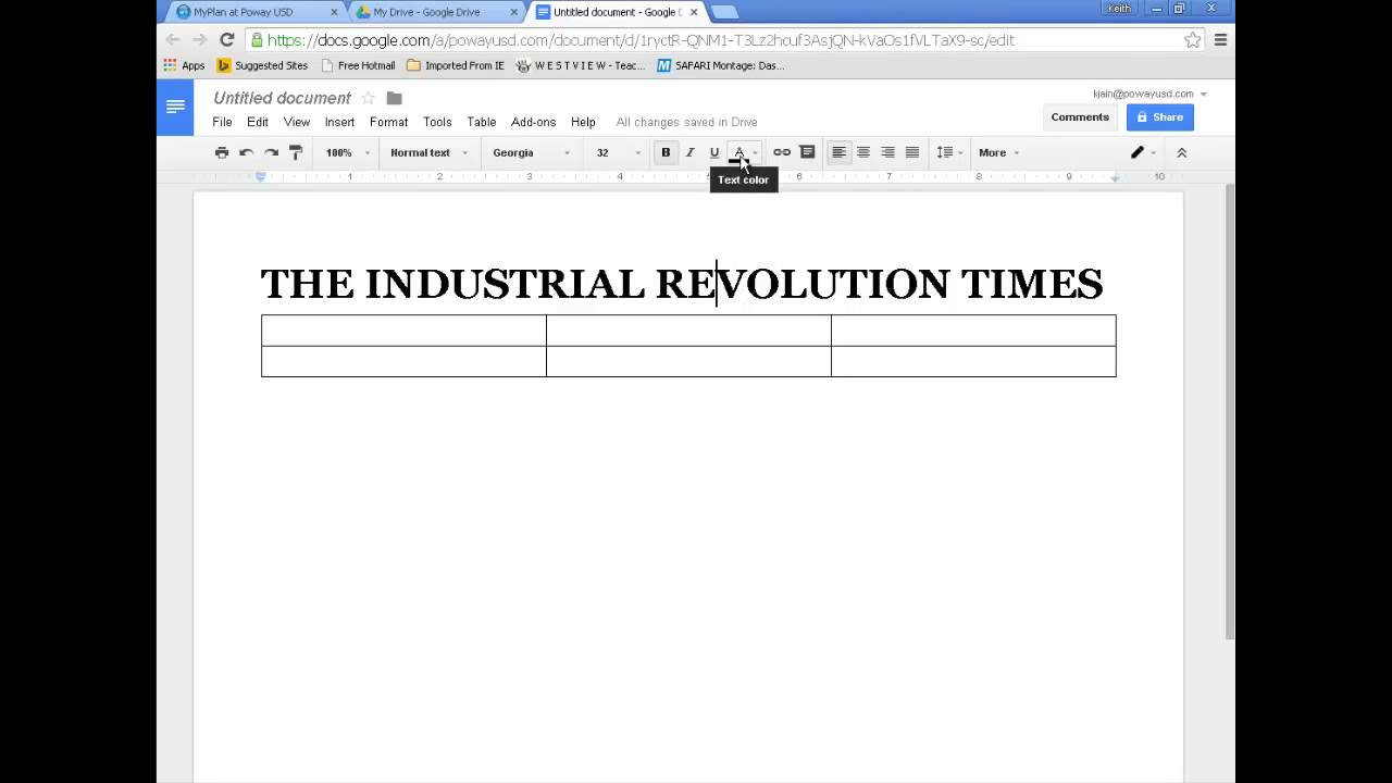 googledocs newspaper formatting