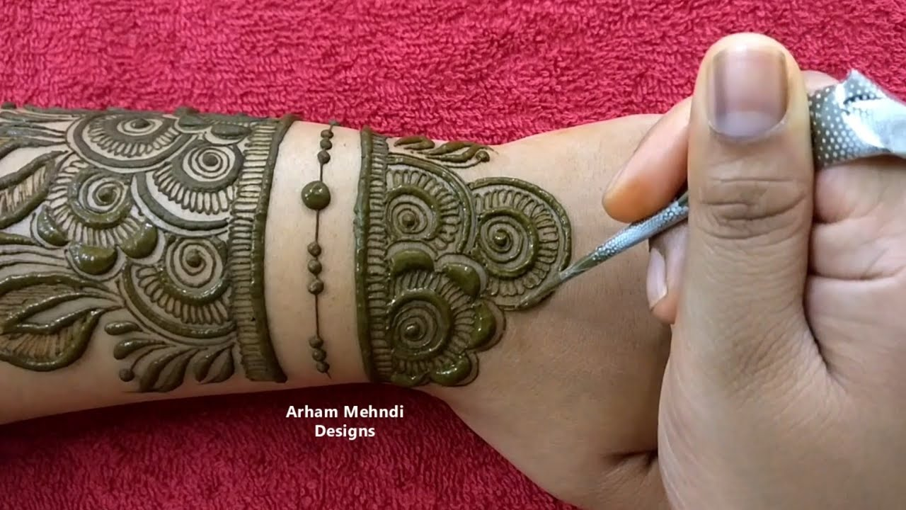 full hand beautiful mehndi design