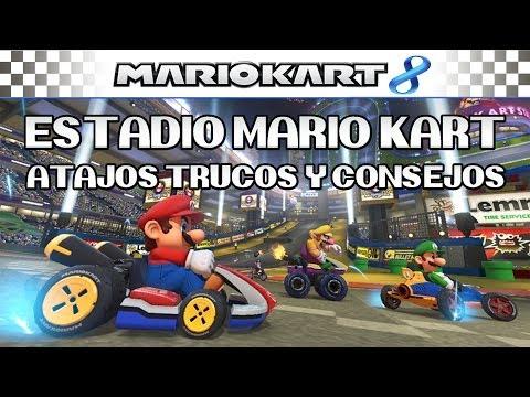 Mario Kart 8 WiiU - Tutorial Circuito: Estadio Mario Kart, Atajos, Trucos y consejos