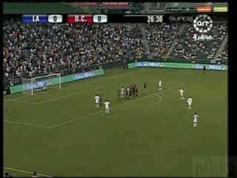 David Beckham First Goal for LA Galaxy