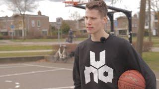 Lenno Witteveen, exponent uit jeugdopleiding Landstede Basketbal