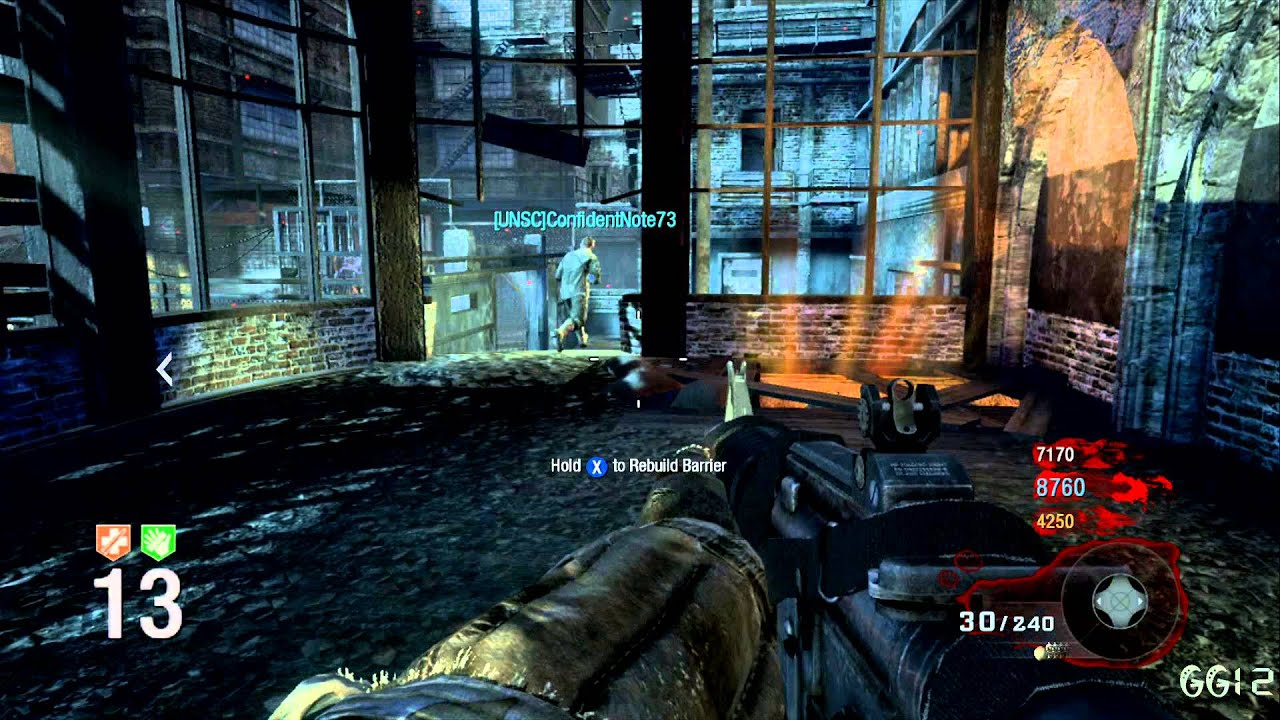 COD: Black Ops/WAW Zombies Map Der Riese Level 1-20 Gameplay ...