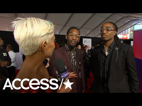 AMAs 2018: Migos Offset FaceTimes Wife Cardi B & Daughter Kulture Every Night On Tour | Access