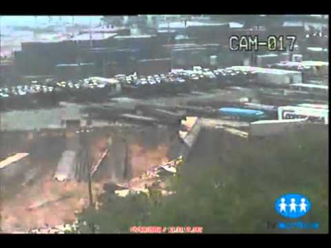 Brazil Port falls into the sea; 300ft Sinkhole to Blame