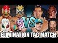 Sin Cara, Kalisto, Rey Mysterio & Metalik vs Reigns, Cena, Kane & Great Khali (Elimination Tag)