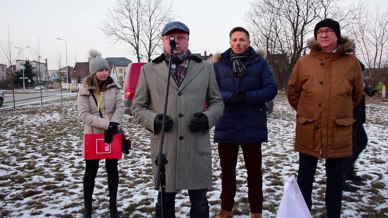 Protest SLD i KOD przeciwko Żołnierzom Wyklętym 01.03.2018 Kielce