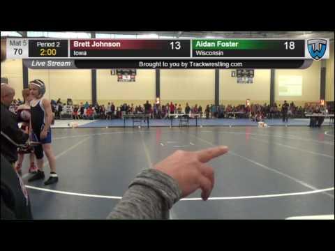 6005 Bantam 70 Brett Johnson Iowa vs Aidan Foster Wisconsin 7860838104