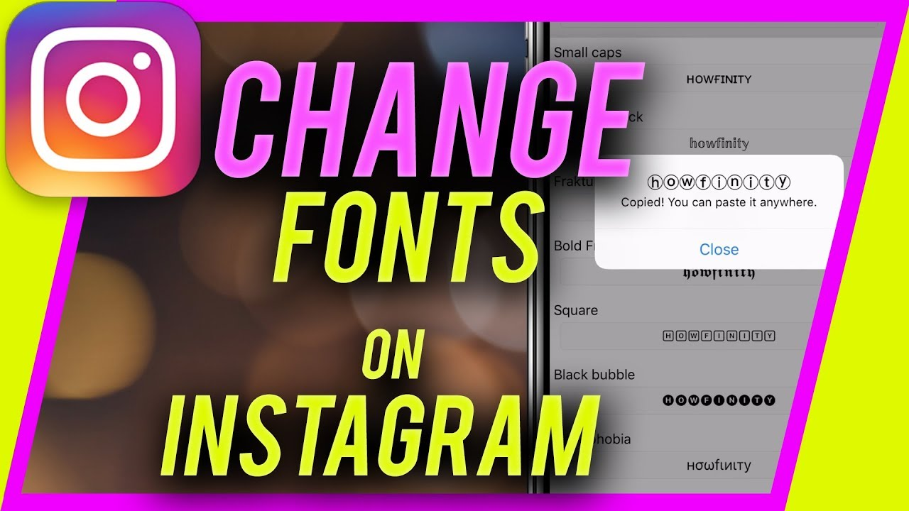 How to change instagram username font-Instagram HACK