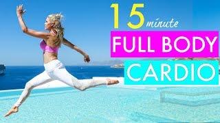 15 Minute Full Body Cardio Workout - CALORIE BLAST | Rebecca Louise