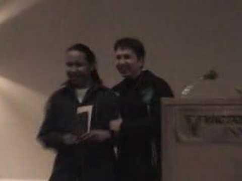 Brandon Moonias receives award