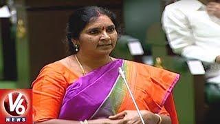 Padma Devender Reddy Speech About Speaker Pocharam | Telangana Assembly 2019 | V6 News