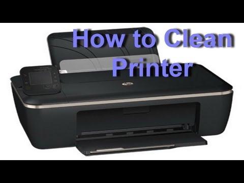 how to clean my hp deskjet printer